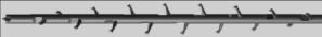 3D-нить с насечками, однонаправленными вокруг нити (360˚)